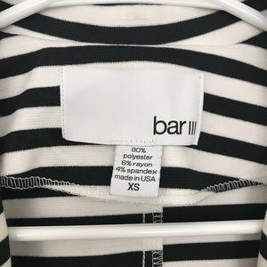 Bar III Jackets & Coats - Bar III Black and White Striped Light Blazer XS